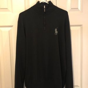 Wool half zip black sweater - perfect condition